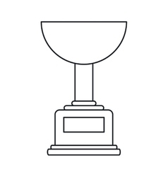 Trophy winner award american football outline vector