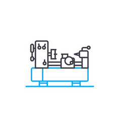 Turning work linear icon concept turning work vector