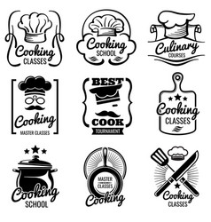vintage cooking in kitchen classes vector image