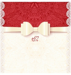 Vintage wedding card template vector image vector image