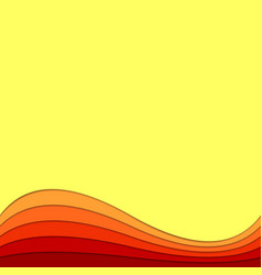 Wave abstract background from curved layers - vector
