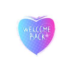 Welcome back special price sticker coronavirus vector