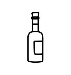 Wine bottle beverage celebration on white vector