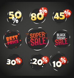 different shopping labels sale tags vector image vector image
