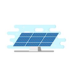 flat solar panel power plant vector image