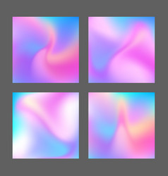 holographic gradient vector image vector image