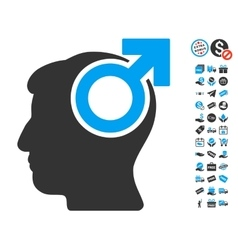 Intellect Potency Icon With Free Bonus vector image vector image
