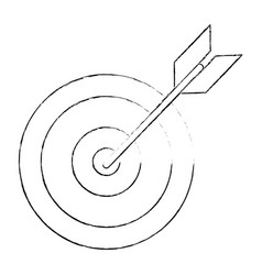 target arrow idea business sketch vector image vector image