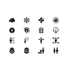 Environmental and people icons Lyra series vector image vector image