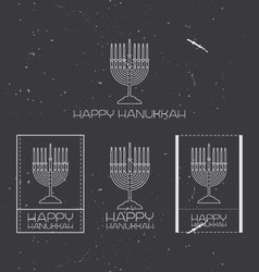 Hanukkah design elements vector
