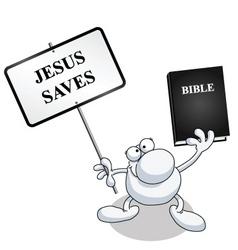 man sign bible vector image vector image