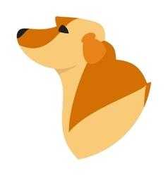 Pedigree dog head labrador retriever vector image