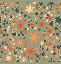 seamless texture with many stylized flowers and vector image vector image