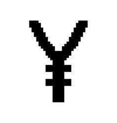 Sign pixel yen black 907 vector image vector image