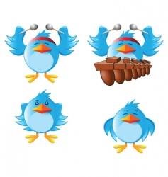 tweeter bird vector image vector image