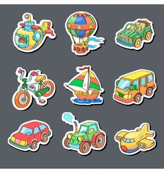 Cartoon collection of Transportation - Colored vector image