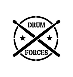 Drum sticks with word drummer vector image vector image