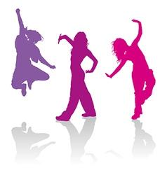 Girls dancing jazz-funk dance vector image vector image