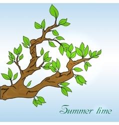 Oak leaves banner vector image vector image