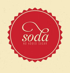 Soda Design vector image