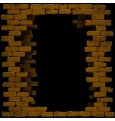 break in a brick wall vector image