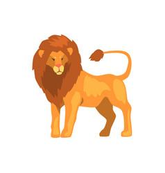 formidable lion wild predatory animal vector image vector image