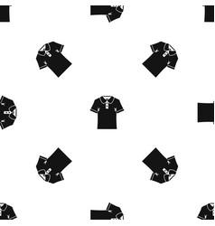 men polo shirt pattern seamless black vector image vector image