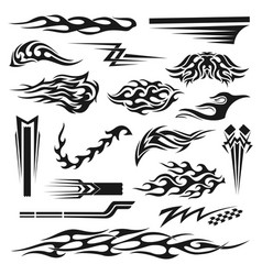 vinyl decoration black graphic collection vector image