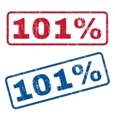 101 Percent Rubber Stamps vector image