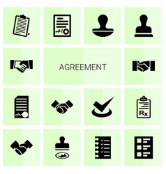 14 agreement icons vector