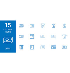 15 atm icons vector