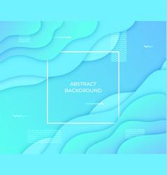 Abstract background 3d fluid liquid shape vector