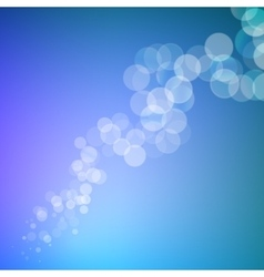 Abstract bokeh sparkles line on blurred background vector image