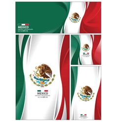 Abstract mexico flag background vector