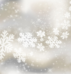 Abstract winter design vector image