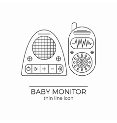 Baby monitor line icon vector image