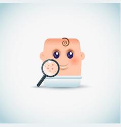 Baby rash icon vector