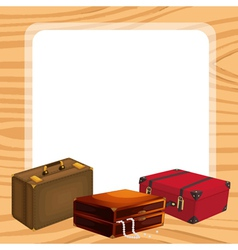 Bags and a white background vector