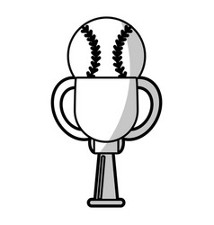 baseball winner cup prize - shadow vector image