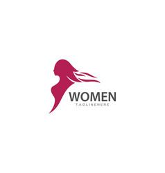 beauty woman logo vector image