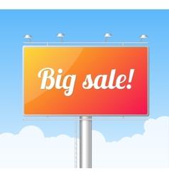 Billboard on blue sky Big Sale concept vector