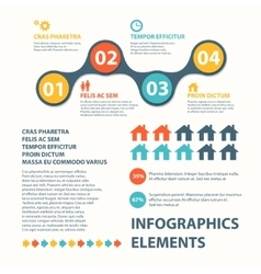 Business Infographics circle origami style can be vector image