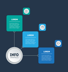 business presentation or infographic with 3 steps vector image