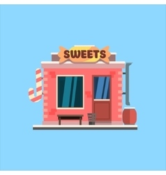 Candy Shop Front vector image