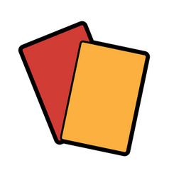 card referee football soccer icon image vector image