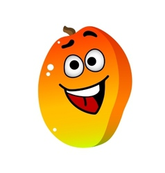 Cartoon mango fruit character vector image