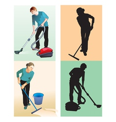Cleaners vector