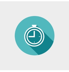 Clock Flat Icon vector