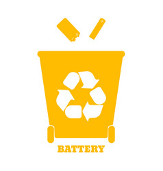 Colorful containers for recycling waste sorting vector