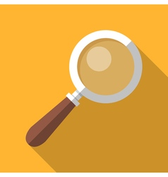 Colorful magnifying glass icon in modern flat vector